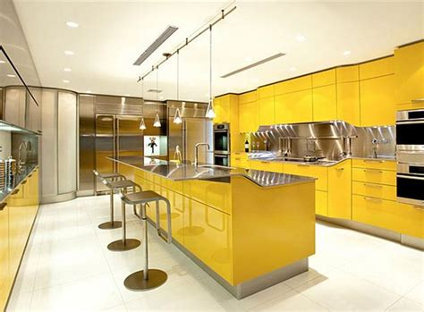 interior design ideas for kitchen color schemes luminous interior design ideas and shining yellow color