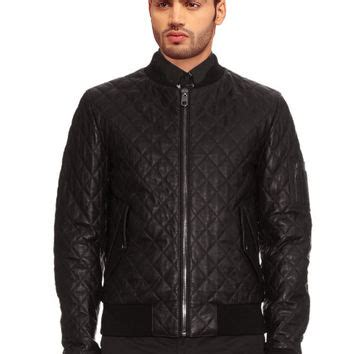 Mens Leather Quilted Bomber Jacket by Best S Quilted Bomber Jacket Products On Wanelo