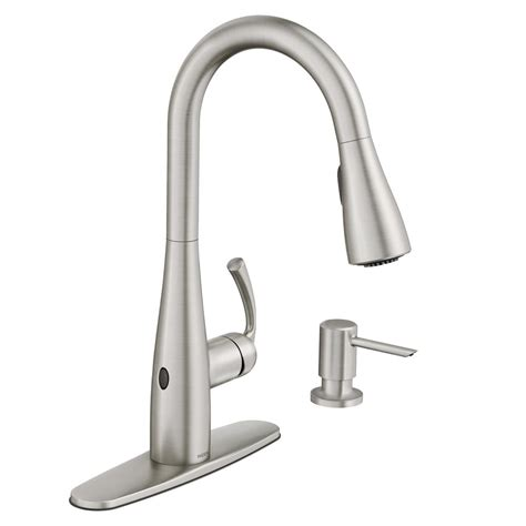 motionsense kitchen faucet moen essie touchless single handle pull sprayer