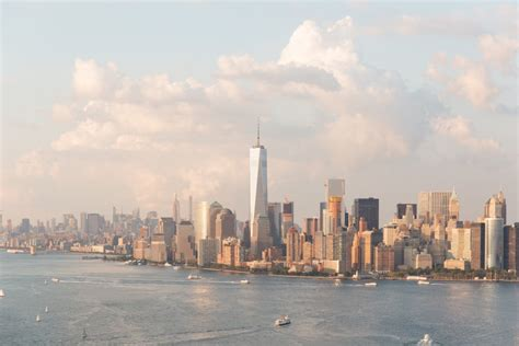 New York Finder New York City Skyline Water Clouds Buildings City New York Nyc Image Finder