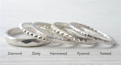 create your own silver stacking ring set by marion made