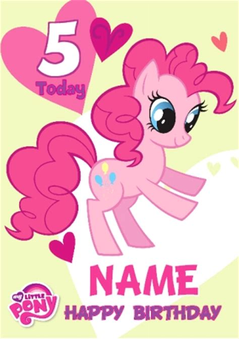 printable birthday card my little pony www funkypigeon com personalised card my little pony