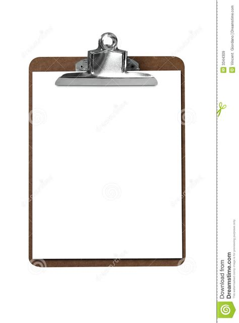 How To Make A Board With Paper - clip board with paper stock image image of sheet