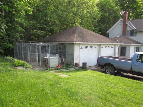 kennel in garage residence 10121 hyatt hill rd kennel garage