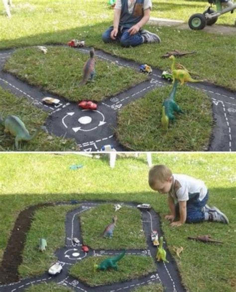 Black Car In The Backyard by Backyard Race Car Track An Easy Diy The Whoot