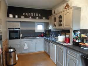cuisine gris de su 232 de brosser blanc relook meubles62
