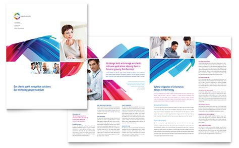 software solutions brochure template word publisher