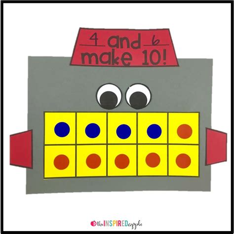 math crafts for math craft robot the inspired apple
