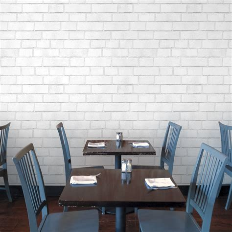 white brick self adhesive wallpaper by the binary box brick white textured self adhesive wallpaper design by