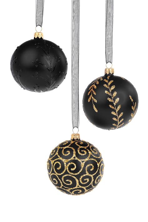 black christmas baubles free stock photo public domain