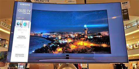 Tv Samsung Q8c review samsung qled q8c 4k hdr tv samsung s curvy 65