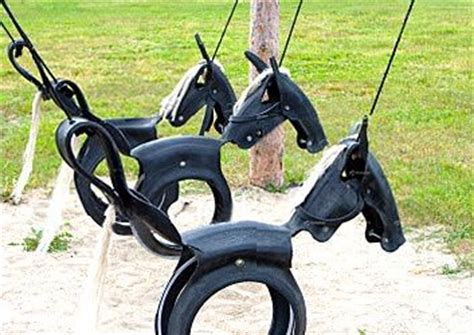 diy horse tire swing tyre horse swing recycled ideas recyclart