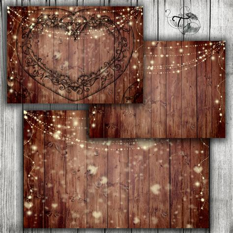 rustic wedding printable background wood wedding invite etsy