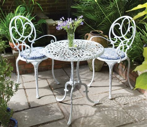 Garden Table Chairs Useful Metal Garden Furniture Pinteres