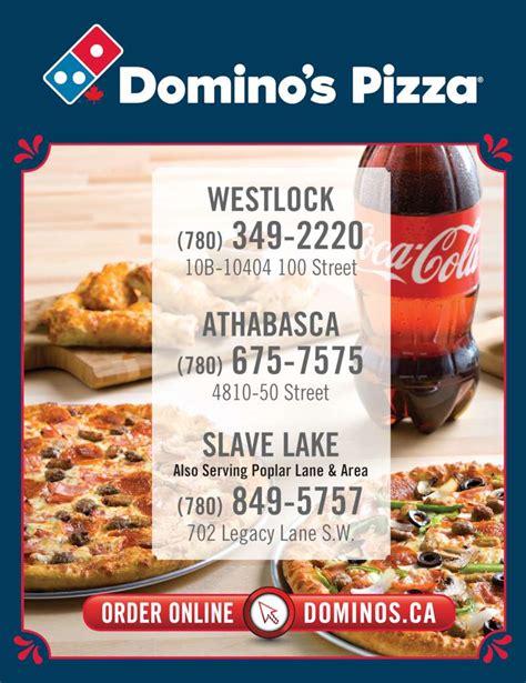domino pizza edmonton domino s pizza slave lake ab 702 15th ave sw canpages
