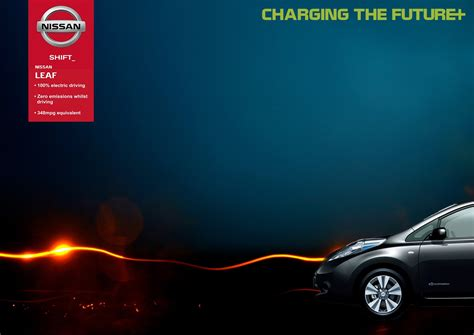 nissan leaf ad graphics portfolio nissan leaf 100 electric car