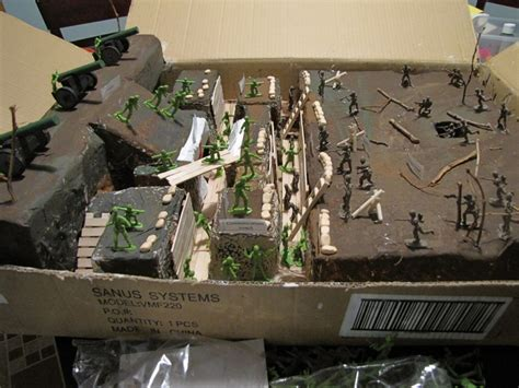 Mini 4 Wd Academy Land Master Korea Production trench project for history class 6th grade made from packing material from tv mount floral