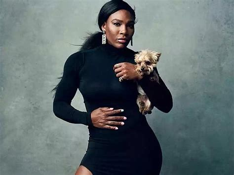 Serena Williams Pooch On The Mound by Serena Tastes Victory Despite Falling Ill After
