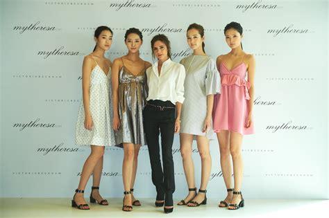 Dress Model A Line beckham launches dress line for asians in korea