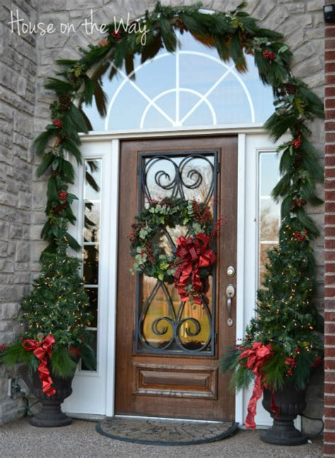 christmas decor for the front door doors by design