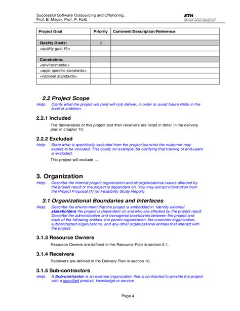 project planning template template project plan free