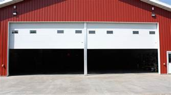 swing up center post commercial garage door 187 midland