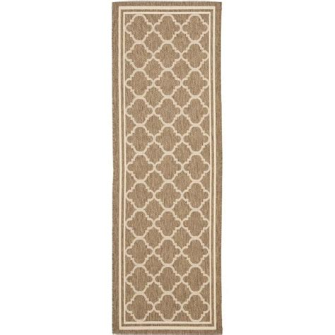 Safavieh Courtyard Brown Indoor Outdoor Rug Runner 2 3 Outdoor Rug Runners