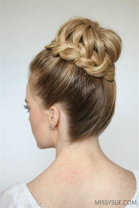 Braided Hair Bun braid high bun sue