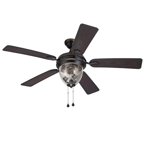 fan alleghany 52 indoor outdoor ceiling fan shop harbor 52 in bronze downrod or mount