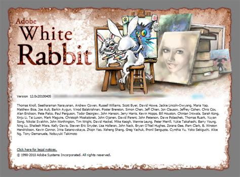 Adobe Photoshop White Rabbit Tutorial | photoshop cs5 white rabbit the hidden splash screen