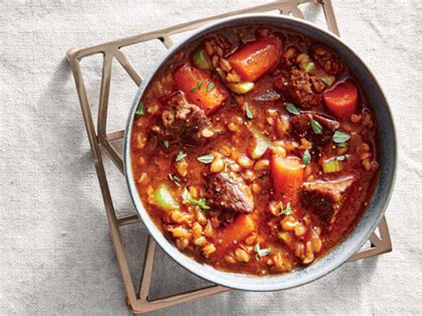 beef and barley stew recipe alton brown food network slow cooker beef and barley stew recipe cooking light