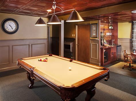 Pool Table Room Ideas by Run Renovation A Basement Bar And Billiards Room