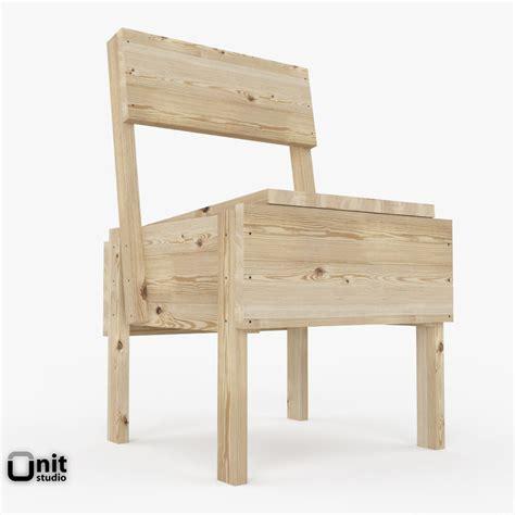 sedia chair artek sedia 1 chair 3d model max obj 3ds fbx dwg