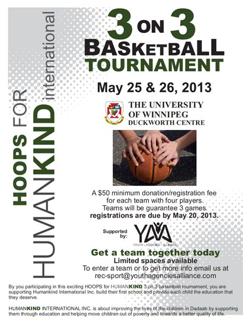 Invitation Letter Sle For Basketball League Hoops For Humankind 3on3 Basketball Tournament Coming May 25 26 To Duckworth Centre