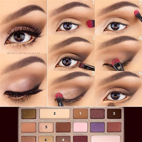 eyeshadow tutorial using too faced love this step by step pictorial by thecinemascoper and