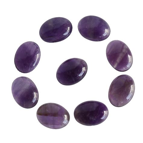 9x7mm oval shape amethyst gemstone lot calibrated