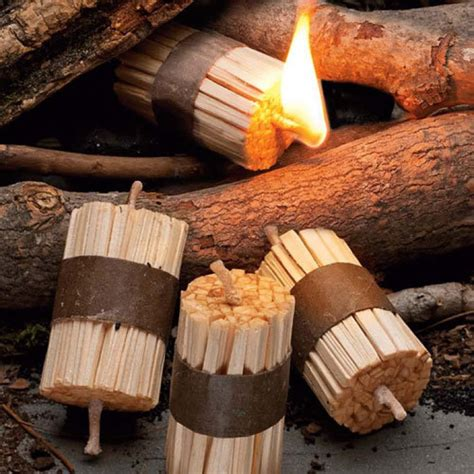 Best Kitchen Knives Made In Usa fire starter kit bundle of tiny sticks waxed wood