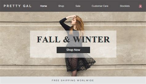 women s fashion wix template wix online store template