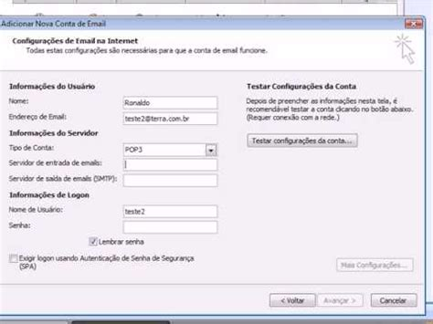 email terra no outlook 2007 youtube