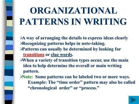 time order pattern of organization words time order pattern of organization words organizational