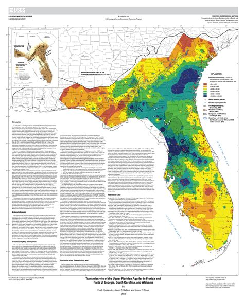 Transmissivity Of The Floridan Aquifer In Florida