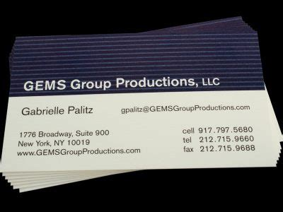 Lithography Business Cards