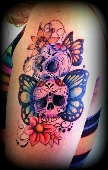 girly skulls sleeve tattoos cover
