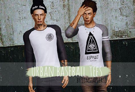sims 3 urban clothes my sims 3 blog urban baseball tees by simstaplease