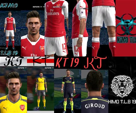 arsenal pes 2017 arsenal full kits for 2016 2017 season pes 2013