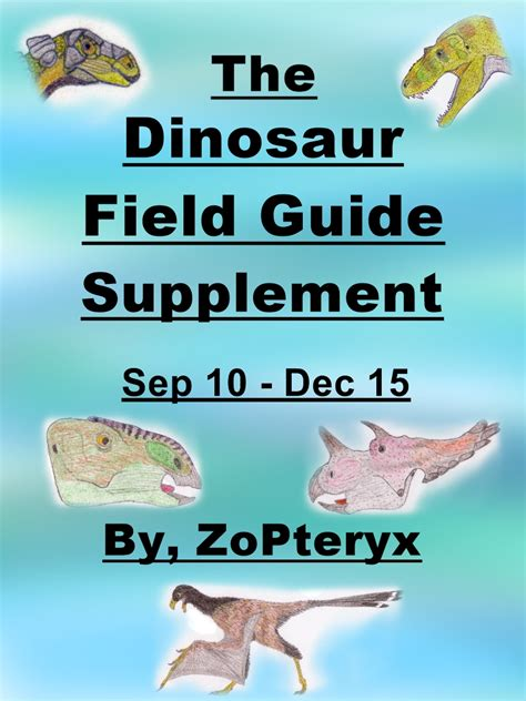 supplement guide pdf 2nd ed the dinosaur field guide supplement by zopteryx
