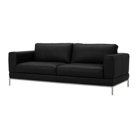 black couch ikea arild three seat sofa karakt 228 r black ikea