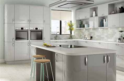 gloss kitchens ideas parma high gloss light grey kitchen designer range