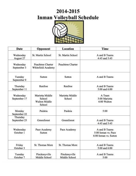 high school volleyball practice schedule