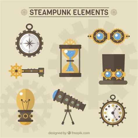 design elements vector pack steunk elements pack in flat design vector free download